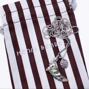 henri bendel Abalone Horn Pendant Necklace